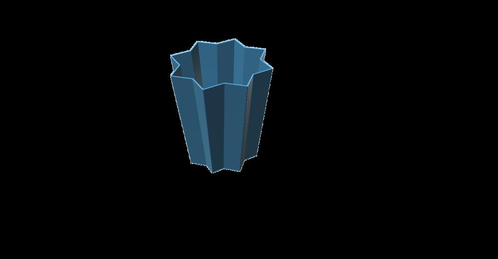 star vase/ plant pot