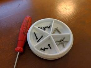 Magnetic screw tray  - easy print