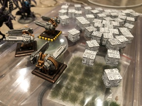 Supply crates for Nemesis board game (10mm)