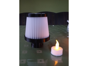 Open Airfilter LED Tealight Holder  / Teelicht Lampe -Update!-