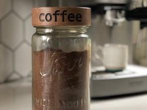 Mason Jar Lid- Breakfast Series