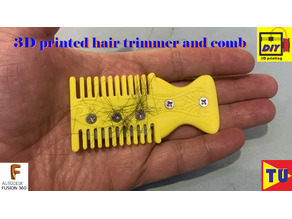 hair trimmer and comb