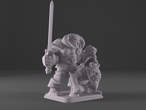 HeroQuest - Chaos Warlord with Orcs Bane
