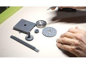 Ball bearing for syringe crane