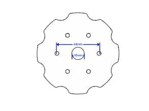 Bike disk brake mount for 260/85/25* Wheel