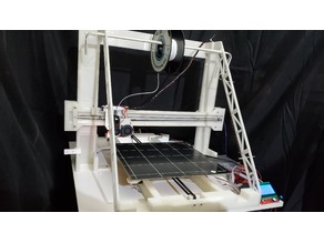 THE BEAST - FULLY 3D PRINTED FRAME AND RAILS 3D PRINTER