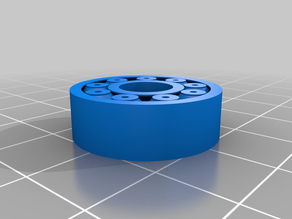 3D Printable 608 Bearing (Print in Place) No Logo Remix
