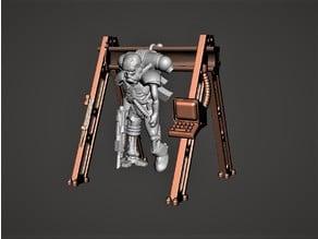 Cyborg / Servitor 28mm Miniature - In Storage / Recharging