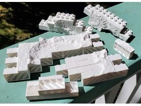 Montini NASA Mars Gusev Crater Wall Set (Lego Compatible)