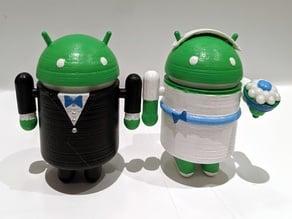 Android Bride & Groom Figurines