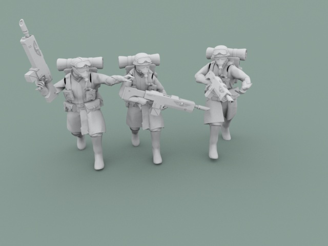 Legion Of Metal Soldiers Moving