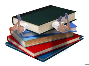 girl in the book - Bookmark / Lesezeichen