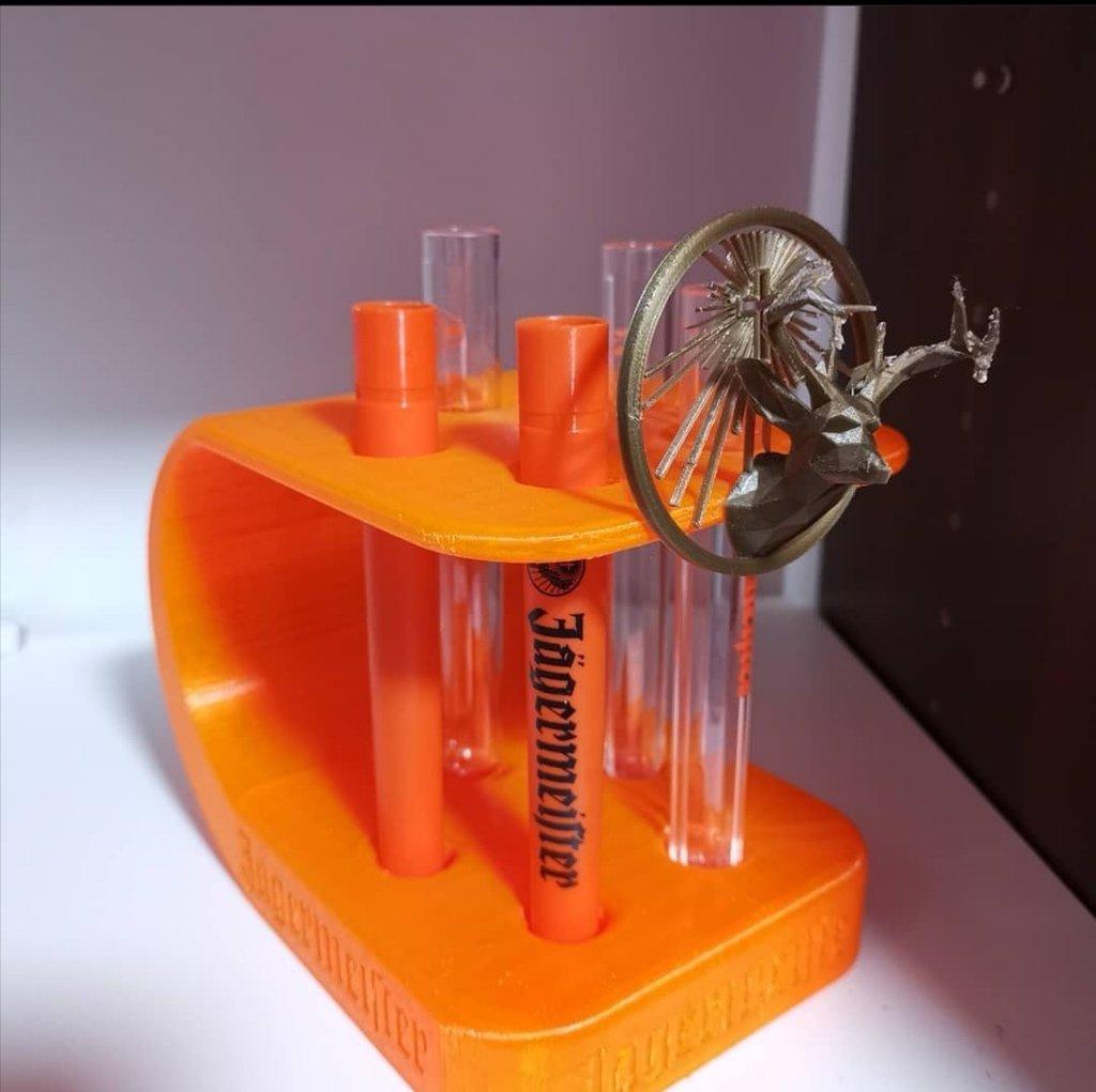 Jägermeister test-tube holder
