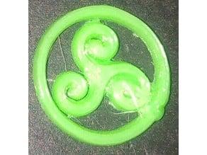 Triskelion sign (keychain)