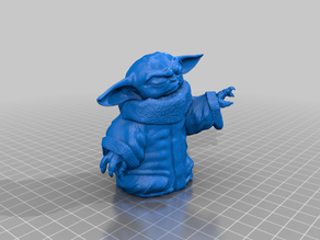 Baby Yoda using the Force(Solid)