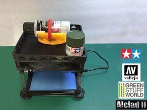 Model Paint Mixer from a 140mm PC fan