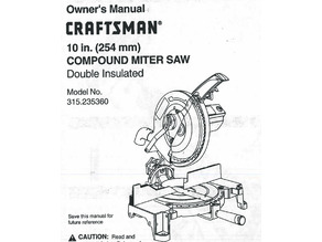Craftsman Compound Miter Saw Replacement Trigger