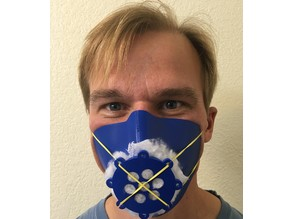 Respirator Mask - quick to print, dip in hot water to form fit