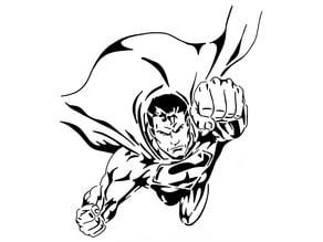Superman stencil 5