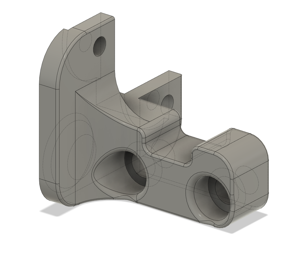 ender 3 pro Geeetech  TL-touch mount for stock hot end