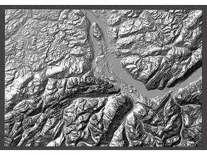 Lake Thun Region Relief