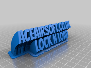 My aceairsoftCustomized Sweeping 2-line name plate (text)