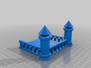 Terrace with columns for Pegasus Hobbies