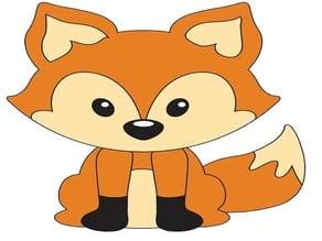 3D Fox Cookie/Fondant Cutter