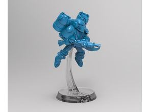 28mm Miniature Flight Base for Retro Space Men