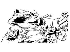 Rocket Raccoon stencil