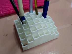My Customized A square pen holder 1 sine