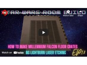 Millennium Falcon Floor Grates Laser Etched EVA FOAM Star Wars