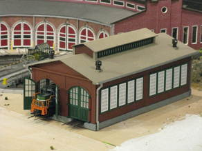 NEW HO Scale Two Stall Engine House