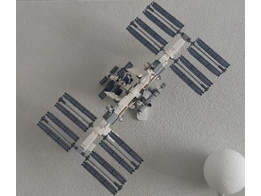 Wall mount for LEGO® International Space Station