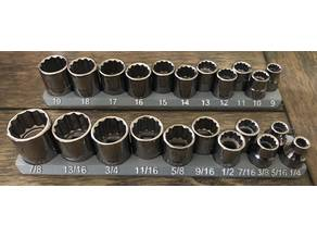 """Rectangular Socket Organizer - 3/8"""" Drive, Craftsman"""