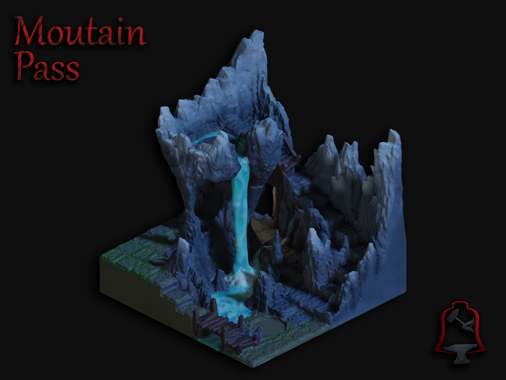 Mountain Pass - Massive Support Free Print!!!