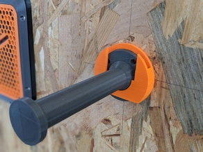 Clipping system for a wall mounted spool holder