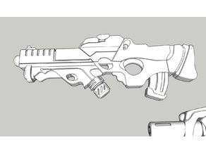 Yu-Jing Combi Rifle with E/Mitter for Infinity: The Game
