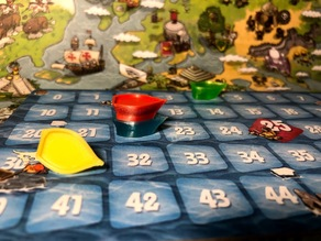 Imperial Settlers: Empires of the North score board token ships