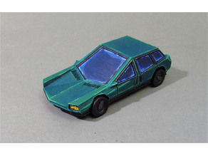 Retro futuristic car