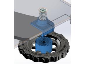 Ender 3 locking bed knob modification