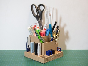 Desktop Organizer - Penholder - USB & SD Card Holder