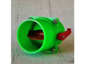63mm Butterfly / Throttle Valve Type Non-Clog Blast Gate for Workshop Dust Extraction Network