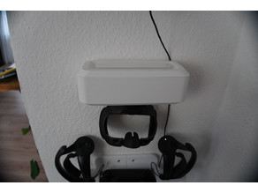 fully parametric wall mounted box with optional hook (designed for index vr covers)