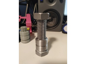 Longer screw and a solid nut