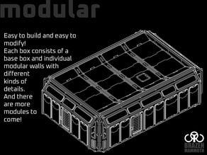 Lasercut Sci-Fi Tabletop Box