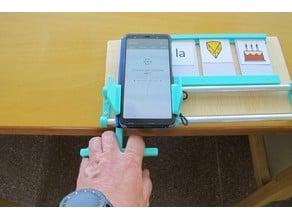 Soporte para móvil utilizando el lector NFC como comunicador