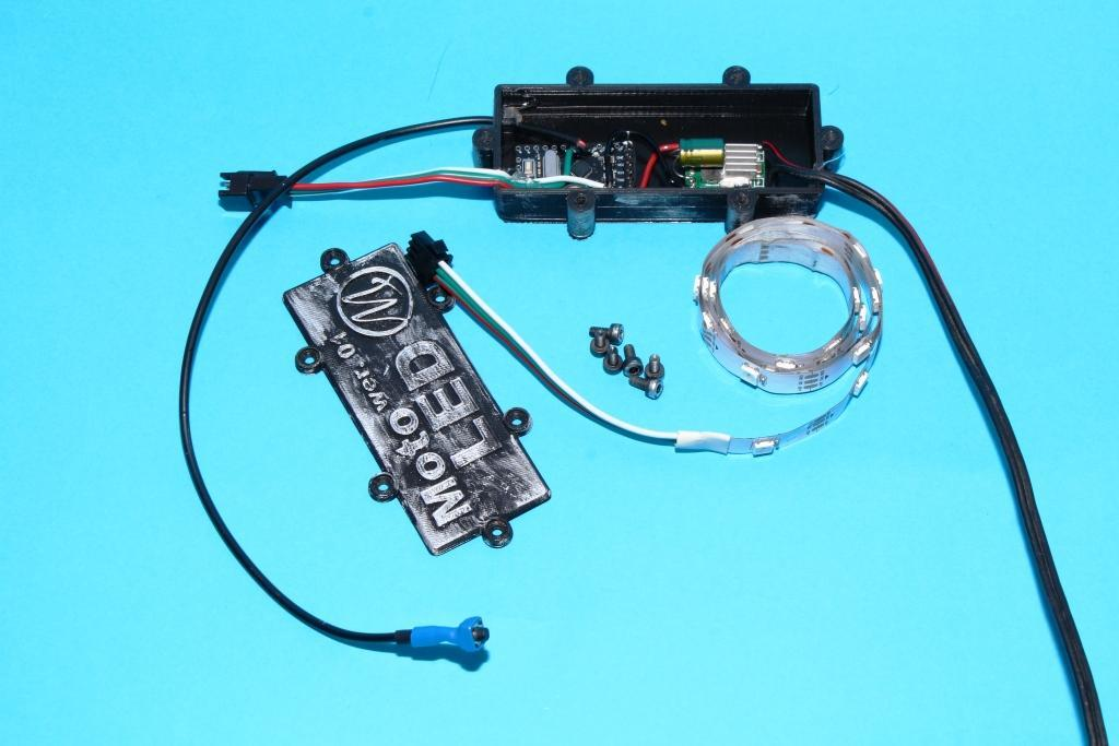 MotoLED arduino WS2812b for motorcycle or motorbike. Engine backlight.