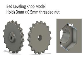 M3 Thumbwheel - Adjustment Knob: QiDi X-One