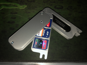 Swiss Army Style SD Card Case With SD card reader slot.
